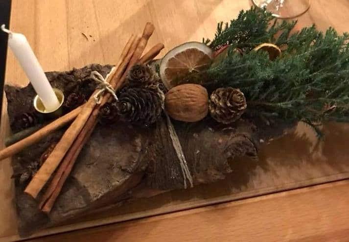 how to make a yule log to burn