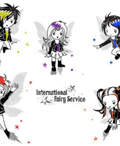 Super cool Tooth Fairies from a world where dragons might set fire to your lunch... International Fairy Service