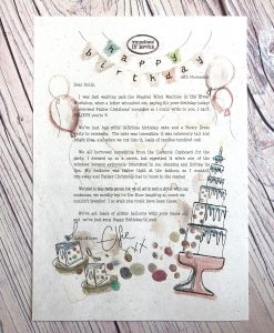 A magical personalised birthday letter from Elfie. one of the Elves in the North Pole.