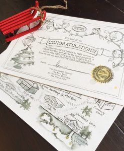 The Candy Cane Christmas Letters are a unique and fun Christmas tradition for the whole family to enjoy on the countdown to Christmas! Official map and certificate from the International Elf Service