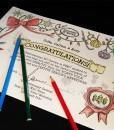 Certificate coloured