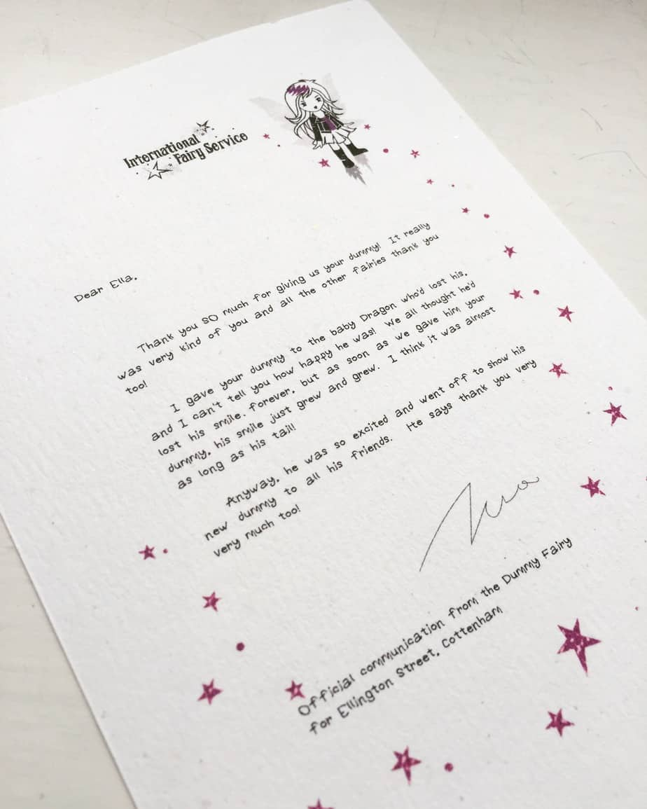 Dummy fairy letter part b the baby dragon girl fairy for Fairy letters
