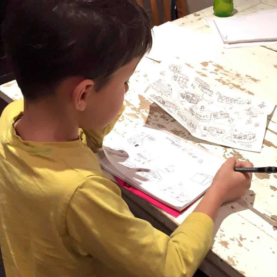 7 year old redraws his precious map sent to him from the North Pole! Sent by 'Elfie' from the International Elf Service.