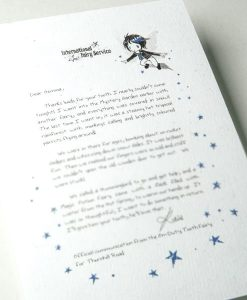 Tooth Fairy Letters No. 9. KINDNESS - By the gang of super cool tooth fairies at the international fairy service. Also available as a fairy letter. International Tooth Fairy Service