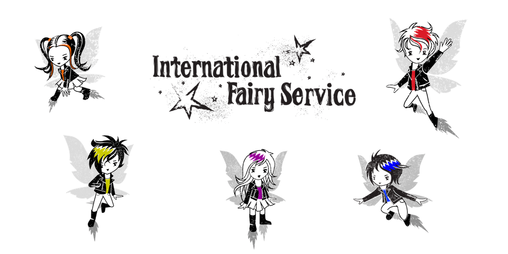 The gang of five super cool fairies that write magical letters to your children - from the International Fairy Service.