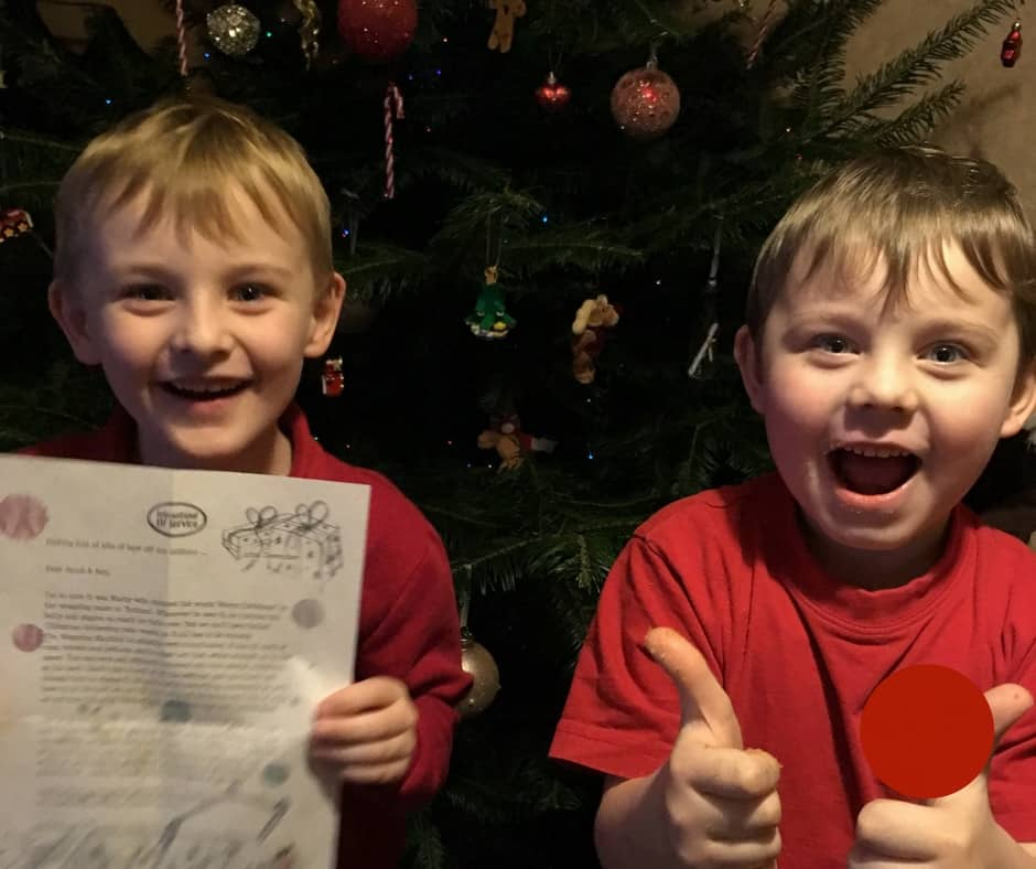 Two brothers delighted to be receiving magical mail from the International Elf Service